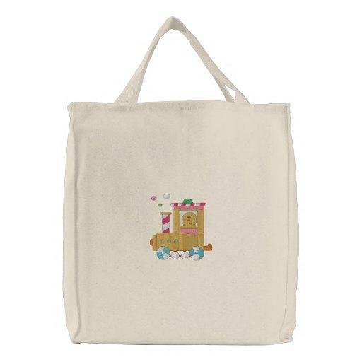 Lebkuchen-Zug Bestickte Einkaufstaschen