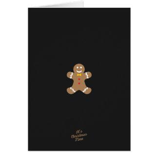 Lebkuchenmann Weihnachtskarte Karte