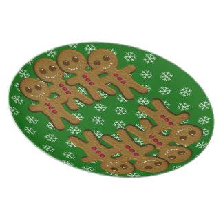 Lebkuchenmänner Feiertags-Teller