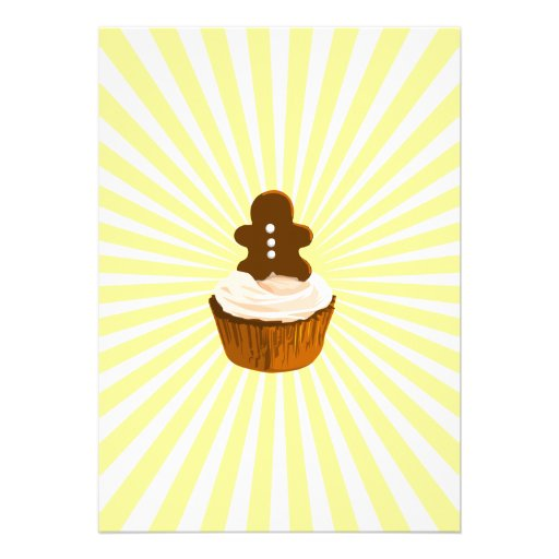 Lebkuchenmannkleiner kuchen mit Explosionslinie Individuelle Einladungskarte