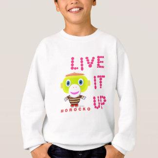 Lebt es Oben-Niedlicher Affe-Morocko Sweatshirt