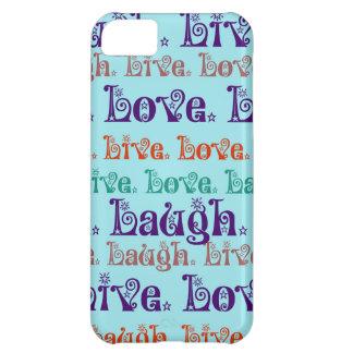 Lebt Lachen-Liebe-aufmunternde Wort-aquamarines Bl iPhone 5C Hülle