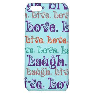 Lebt Lachen-Liebe-aufmunternde Wort-aquamarines iPhone 5C Hüllen