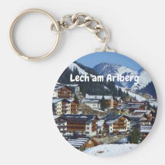 Lech morgens Arlberg in Österreich-Andenken Schlüsselanhänger