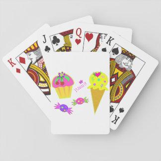 Leckere Eiscreme-Spielkarten Spielkarten