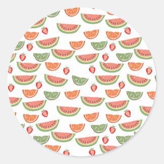 Leckere Frucht Runder Aufkleber