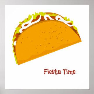 Leckere Taco-Fiesta Poster