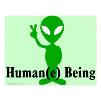 Leckerei alle Wesen menschlich und mit Respekt Postkarte