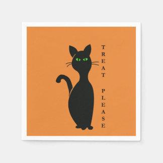 Leckerei-bitte Katze Serviette