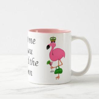 Leckerei, die ich als Sie der Königin-Flamingo wur Kaffeehaferl