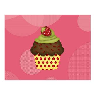 leckerer kleiner Kuchen Postkarte