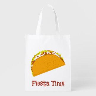 Leckerer Taco Wiederverwendbare Einkaufstasche