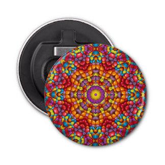 Leckerer Yum Yum Kaleidoskop-magnetische Runder Flaschenöffner