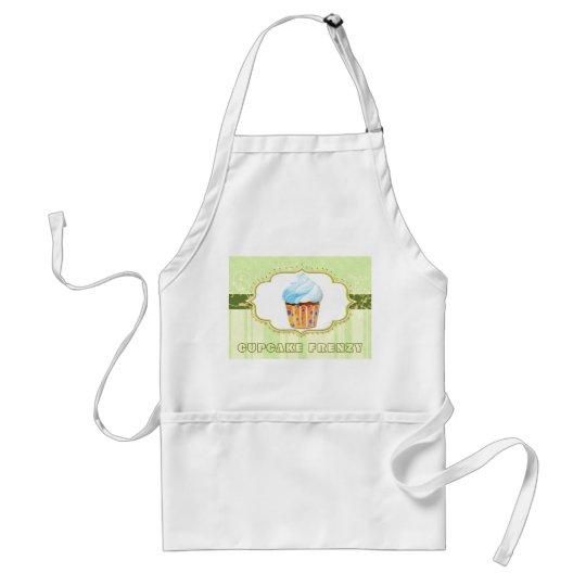 Leckeres Bäckerei-Kuchen-Logo im grünen Geschäft Schürze