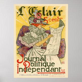 L'Eclair Zeitschrift Politique Unabhängiger Poster