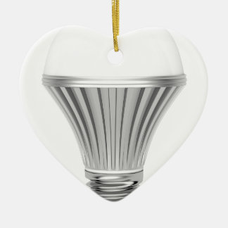 LED-Birne Keramik Herz-Ornament