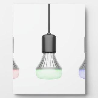 LED-Birnen mit verschiedenen Farben Fotoplatte