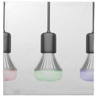 LED-Birnen mit verschiedenen Farben Serviette