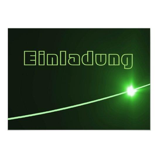 LED green 12,7 X 17,8 Cm Einladungskarte
