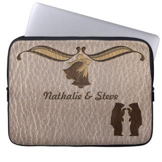 Leder-Blick, der weich Wedding ist Laptop Sleeve