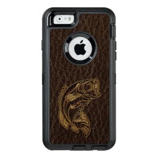 Leder-Blick Fisch-Dunkelheit OtterBox iPhone 6/6s Hülle