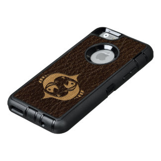Leder-Blick Fische OtterBox iPhone 6/6s Hülle
