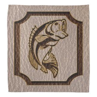 Leder-Blick Fische weich Kopftuch