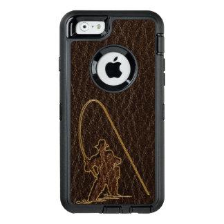 Leder-Blick Fischer-Dunkelheit OtterBox iPhone 6/6s Hülle