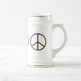 Leder-Blick Friedensfarbe weich Bierglas