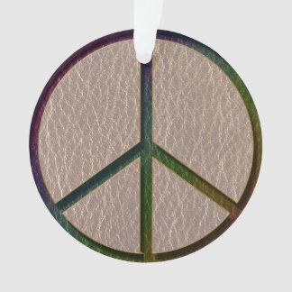 Leder-Blick Friedensfarbe weich Ornament