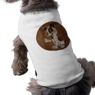 Leder-Blick Hund Shirt