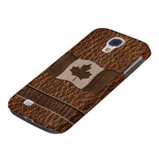 Leder-Blick Kanada-Flagge Galaxy S4 Hülle