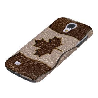 Leder-Blick Kanada-Flagge weich Galaxy S4 Hülle