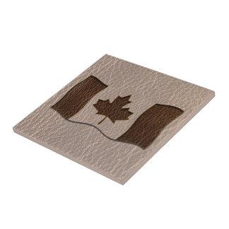 Leder-Blick Kanada-Flagge weich Keramikfliese