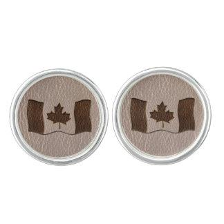 Leder-Blick Kanada-Flagge weich Manschettenknöpfe