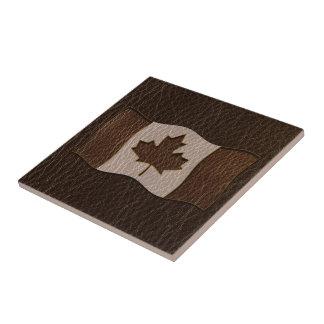 Leder-Blick Kanada-Flaggen-Dunkelheit Keramikfliese