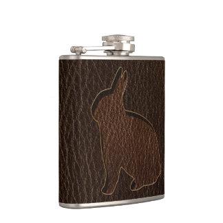 Leder-Blick Kaninchen-Dunkelheit Flachmann