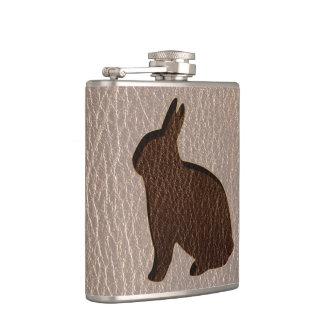 Leder-Blick Kaninchen weich Flachmann