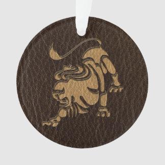 Leder-Blick Löwe Ornament