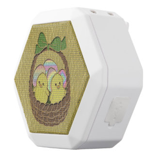 Leder-Blick Ostern-Korb Weiße Bluetooth Lautsprecher