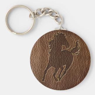 Leder-Blick Pferd Schlüsselanhänger