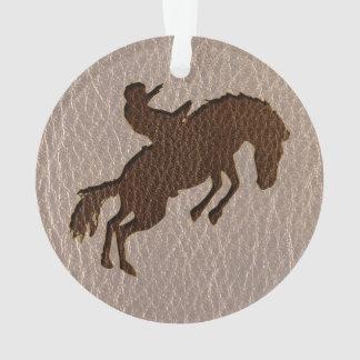 Leder-Blick Rodeo weich Ornament