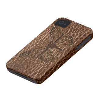Leder-Blick Schmetterling Case-Mate iPhone 4 Hülle