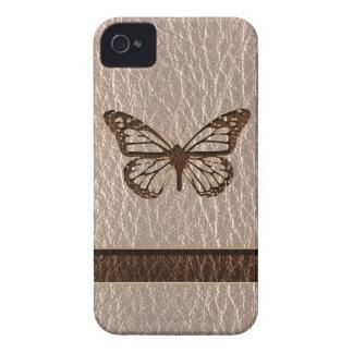 Leder-Blick Schmetterling weich iPhone 4 Case-Mate Hülle