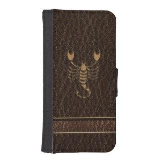 Leder-Blick Skorpion Geldbeutel Hülle Für Das iPhone SE/5/5s