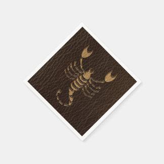 Leder-Blick Skorpion Papierserviette