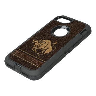 Leder-Blick Stier OtterBox Defender iPhone 8/7 Hülle