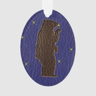 Leder-Blick Ureinwohner-Tierkreis-Braunbär Ornament