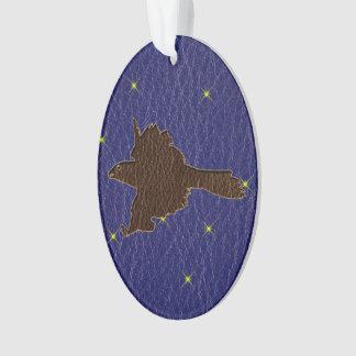 Leder-Blick Ureinwohner-Tierkreis-Falke Ornament
