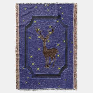 Leder-Blick Ureinwohner-Tierkreis-Rotwild Decke